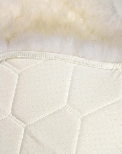 Natural Single Sheepskin with Non-Slip Backing - Backing