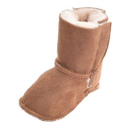 Genuine Full Sheepskin Booties with Ripper Tab Fastening