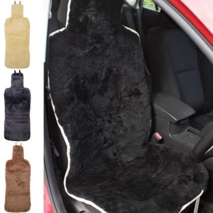 Universal Fitting Genuine Sheepskin Car Seat Covers-0