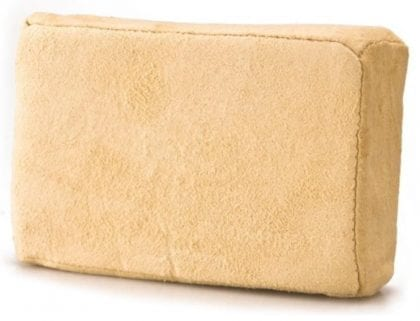 Genuine Chamois Leather Cleaning Pad With Sponge Interior - Front