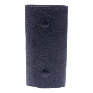 Small Popper Fastened Grained Leather Key Case - Holds 6 Keys by Golunski-0