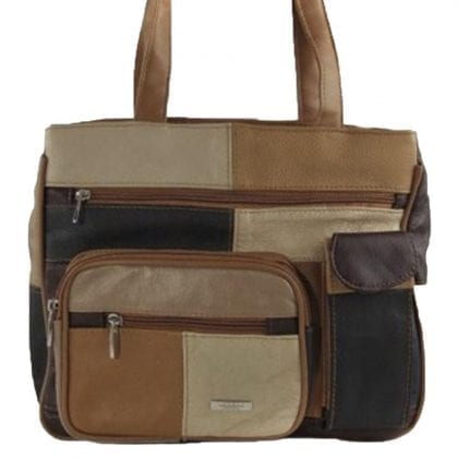 Ladies Dual Shoulder Strap Bag with Twin Zip Compartments