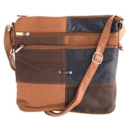 Ladies Soft Genuine Leather Patch Handbag