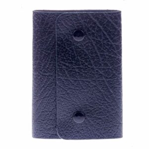 Medium Popper Fastened Grained Leather Key Case - Holds 8 Keys by Golunski-0