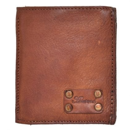Mens Small Vintage Style Leather Bi-fold Organiser Wallet by Ashwood