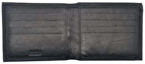 Mens Smooth Leather Hand Finished Card Wallet with Rear Coin Holder by Rowallan-8963
