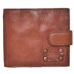 Mens Vintage Style Leather Bi-fold Wallet by Ashwood