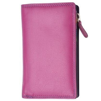 High Quality Multi Colour Zipped Purse - Notecase