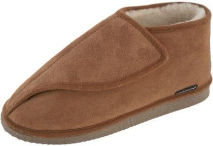 Ladies Genuine Merino Sheepskin Ankle Bootie Slippers Side