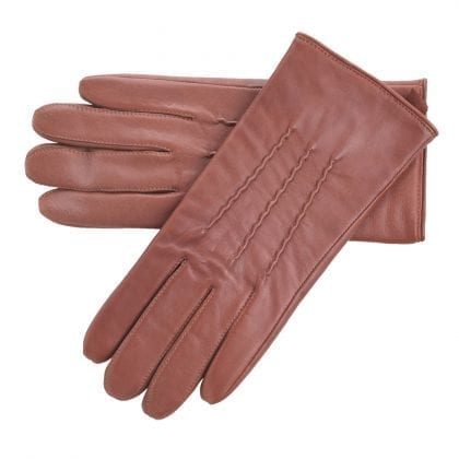 Ladies Genuine Soft Leather Gloves with Central Stitch Design