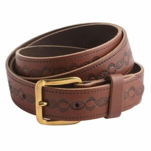 "Arnicus Unisex 25mm - 1"" Genuine Leather Patterned Belt"