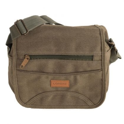 Unisex Flap Over Multi Zip Cross Body Bag