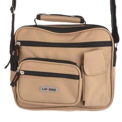 Canvas Multi-Functional Shoulder Bag with Grab Handle