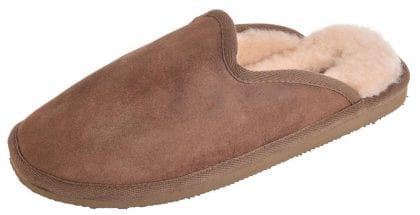 Mens Genuine Sheepskin Slipper Mules by Shepherd of Sweden - Profile