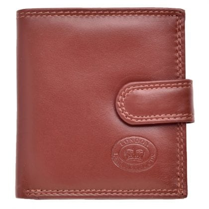 Mens Genuine Leather Organiser Wallet with Coin Section
