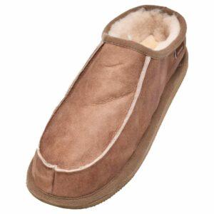 Mens Genuine Sheepskin Mule Slippers with Raised Back by Shepherd of Sweden - Main