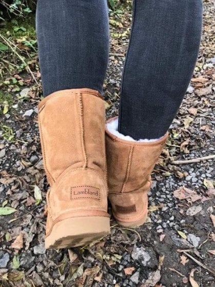 Ladies High Quality Genuine Australian Sheepskin Short Boots - Lifestyle