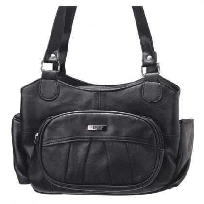 Ladies Soft Genuine Leather Dual Strap Shoulder Bag