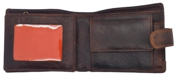 Mens Hand Finished Genuine Buffalo Leather Wallet by Rowallan-8940
