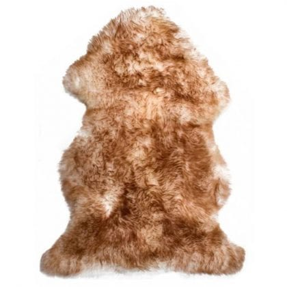Premium Quality Large Genuine Sheepskin Rug in Natural with Brown Tips - Main