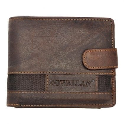 Mens High Quality Rustic Leather Tri-fold Wallet by Rowallan - Main