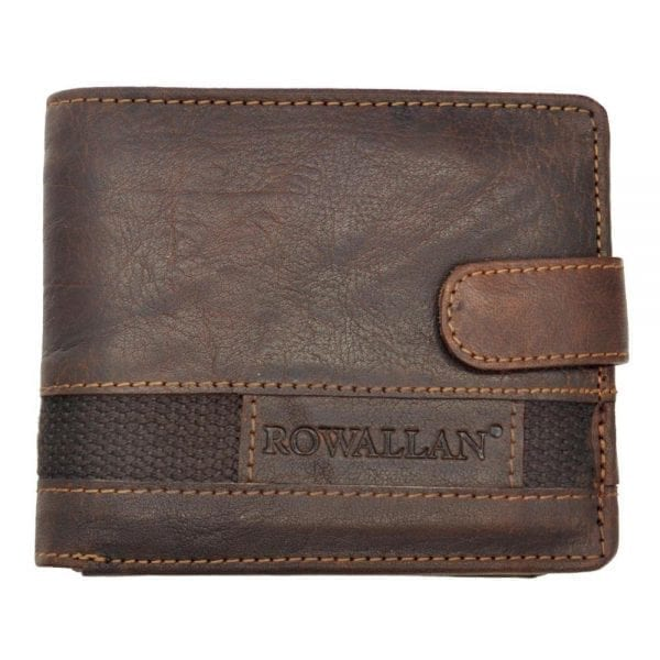 Mens High Quality Rustic Leather Tri-fold Wallet by Rowallan - Main