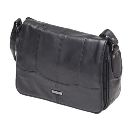 Ladies Small Soft Genuine Leather Organiser Bag - Front