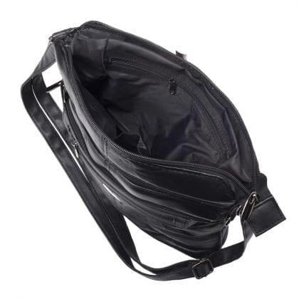 Ladies Medium Size Multi Zip Cross Body Handbag-148826