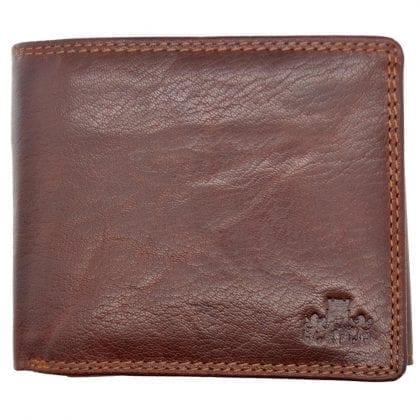 Mens Hand Finished Genuine Buffalo Leather Organiser Wallet by Rowallan - Front
