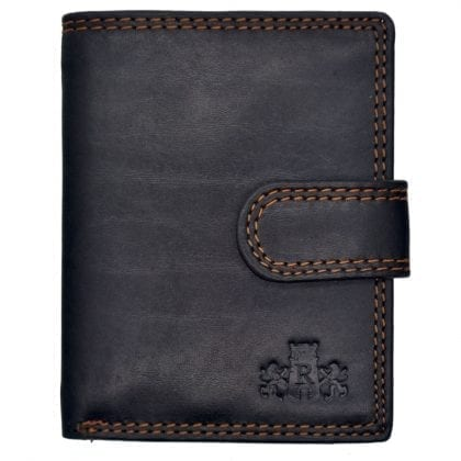Smooth Quality Leather Card Wallet with Plastic Sleeves by Rowallan - Front