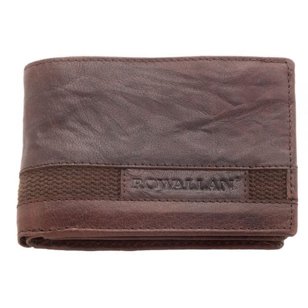 Mens High Quality Rustic Buffalo Leather Flip-out Wallet by Rowallan