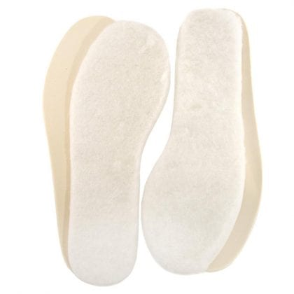 2 Pairs of Childrens Genuine Lambswool Insoles with Latex Backing