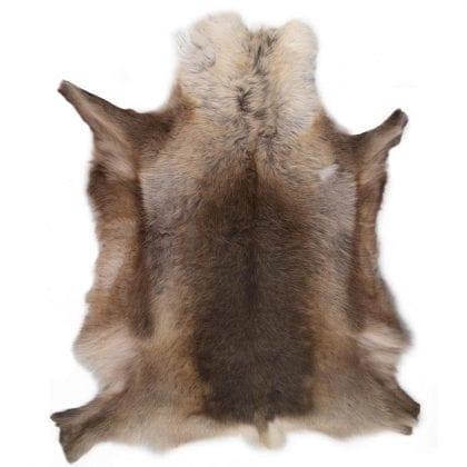 Grade A Extra Large Genuine Reindeer Hide in Dark Natural Shades - Main