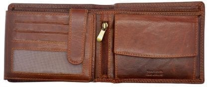Mens Hand Finished Genuine Buffalo Leather Organiser Wallet by Rowallan-8952