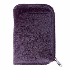 Zipped Genuine Leather Key Case with 8 Key Hooks