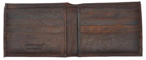 Mens High Quality Rustic Leather Wallet with Multiple Card Slots by Rowallan-8977