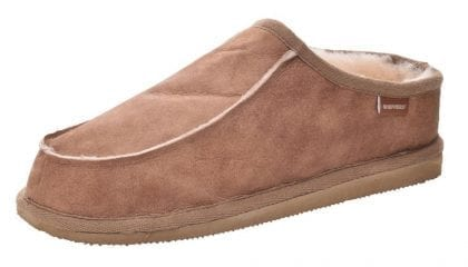 Mens Genuine Sheepskin Mule Slippers with Raised Back by Shepherd of Sweden - Profile