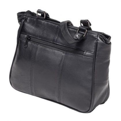 Ladies Soft Genuine Leather Dual Handle Shoulder Bag - Back