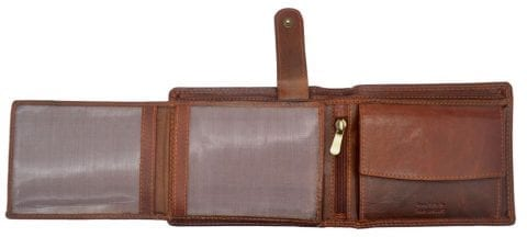 Mens Hand Finished Genuine Buffalo Leather Organiser Wallet by Rowallan-8953