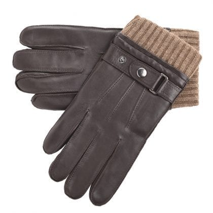 Mens Genuine High Quality Leather Gloves with Elasticated Wool Cuff