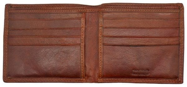 Mens Hand Finished Genuine Leather Card Wallet with Twin Note Compartments by Rowallan-8971
