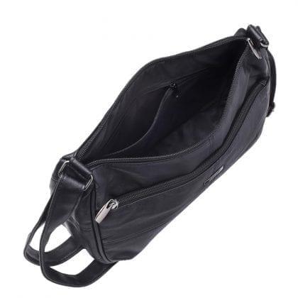 Ladies Genuine Soft Leather Cross Body Bag - Open