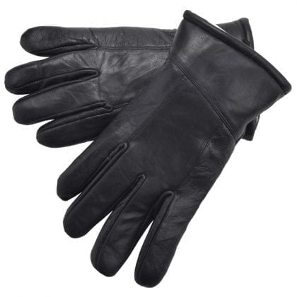Mens Super Soft Genuine Leather Gloves with Sheepskin Lining-0