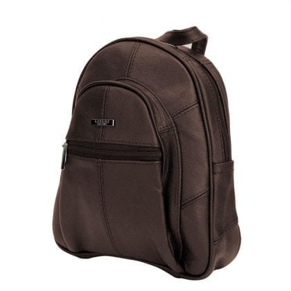 Ladies Genuine Leather Zipped Backpack-0