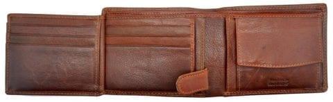 Mens High Quality Genuine Leather Organiser Wallet by Rowallan- Inside 2