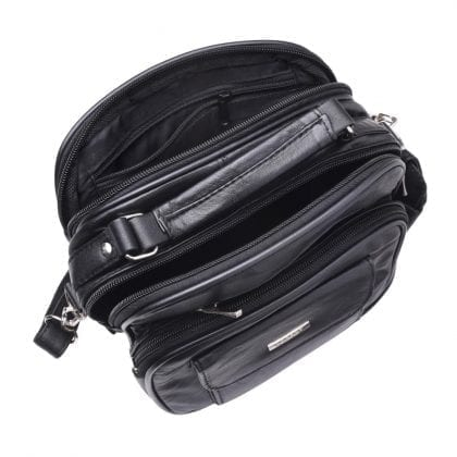 Soft Leather Travel - Work Cross Body - Shoulder Bag - Internal