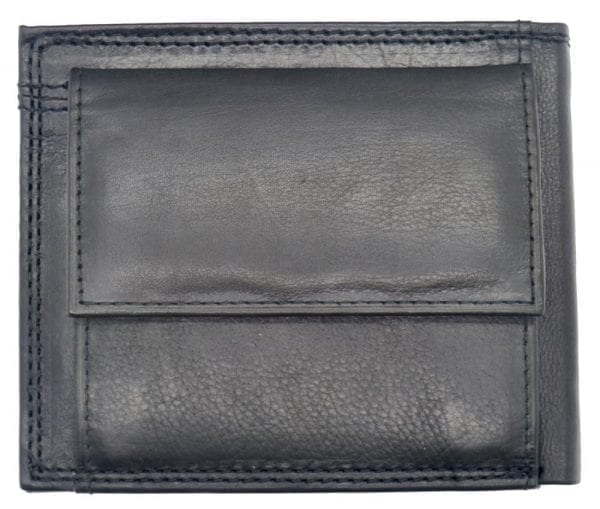 Mens Smooth Leather Hand Finished Card Wallet with Rear Coin Holder by Rowallan-8964