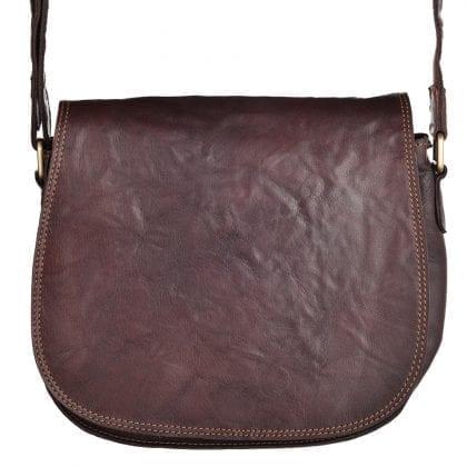 Ladies Vintage Hunter Style Leather Shoulder - Cross Body Bag by Rowallan - Main
