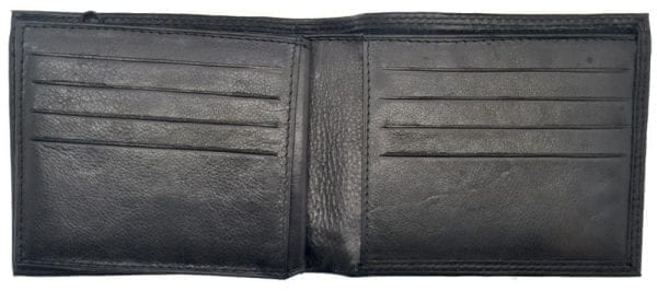 Mens Smooth Leather Hand Finished Card Wallet with Flap Over ID Window by Rowallan-8959