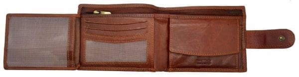 Mens Hand Finished Genuine Leather Organiser Wallet by Rowallan - Flip Out
